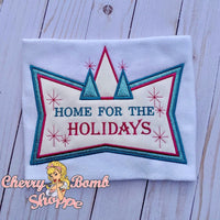 Home for the Holidays Applique