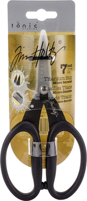 Tonic Stuidios - Tim Holtz - Non-Stick Micro Serrated Scissors - 7 Inches