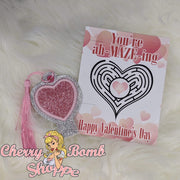 Heart Pencil Topper/Bookmark with Ah-MAZE-ing Card