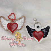 Angel Heart Key Fob & Eyelet