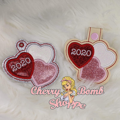Triple Heart Key Fob/Eyelet