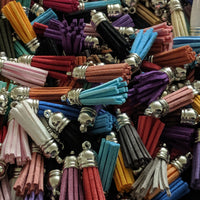 38mm Faux Leather Tassel - Rainbow Pack
