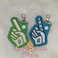 Dad Foam Finger Key Fob & Eyelet
