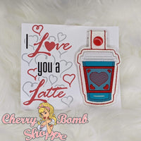 I Like/Love You A Latte Key Fob & Card