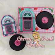 Jukebox Mug Rug Set - 5x7