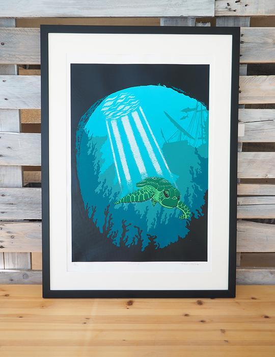 Swimming || A2+ 7 colour Screen Print