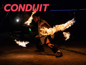 Vol 1 of the Conduit Sounds Newsletter - Fire Spinning with Ben Drexler & Commuting with Dave Nghiem!