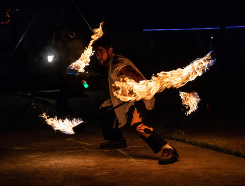 Vol 1 of the Conduit Sounds Newsletter - Fire Spinning and