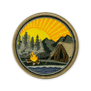 Mountain Lake Campsite Morale Patch - v1