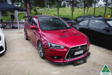 Mitsubishi Lancer CJ Front Splitter with Rods | Flow Designs Australia