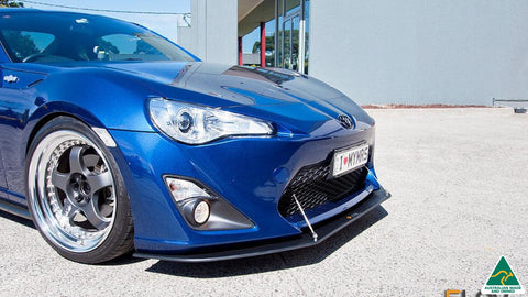 Toyota FT86 Front Splitter w Support Rods | Flow Designs Australia