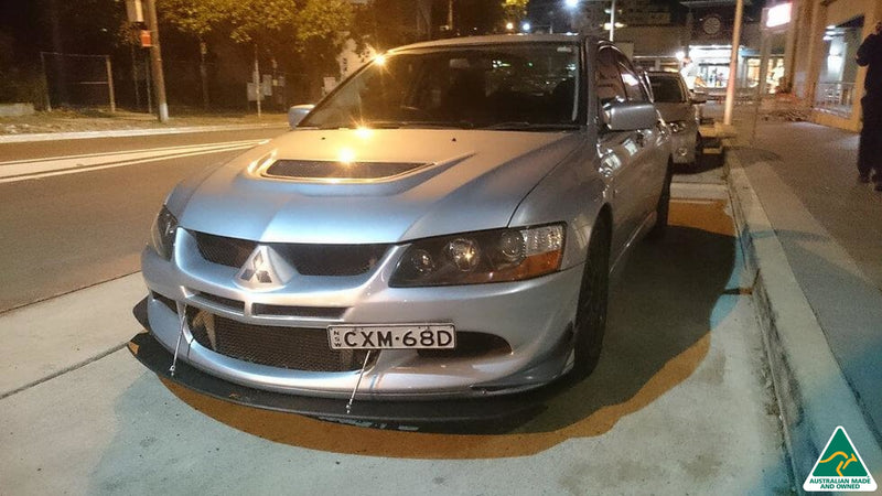 Silver Lancer Evolution VIII Front Lip Splitter