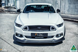 White Ford Mustang S550 FM Front Lip Splitter Extensions