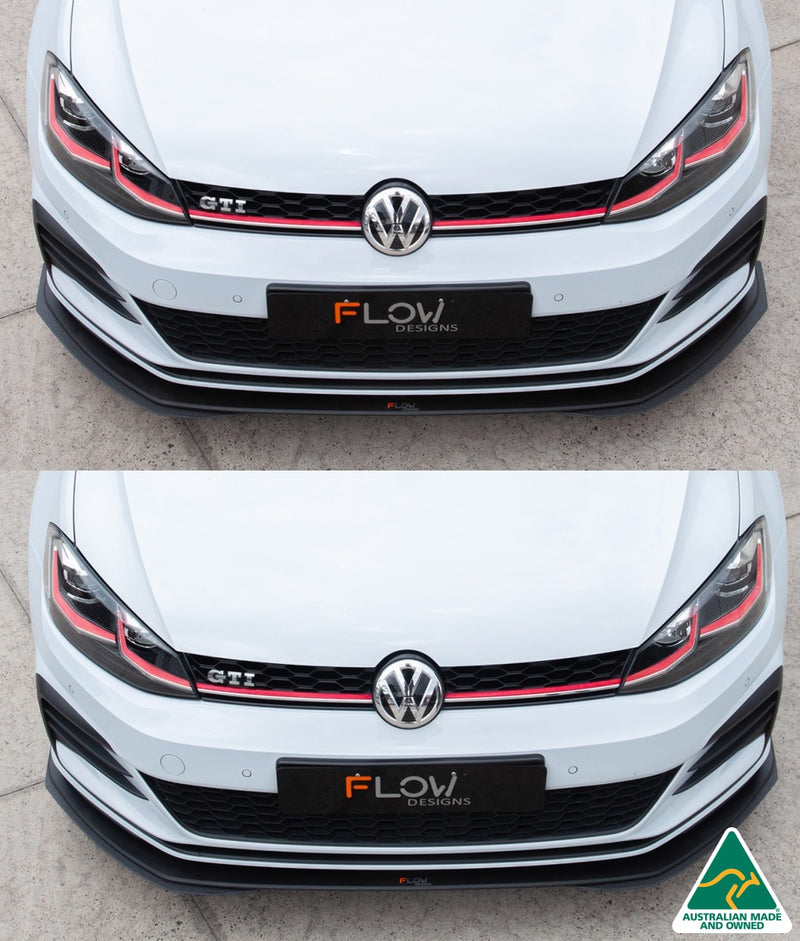 VW MK7.5 Golf GTI Front Splitter Extensions | Flow Designs Australia