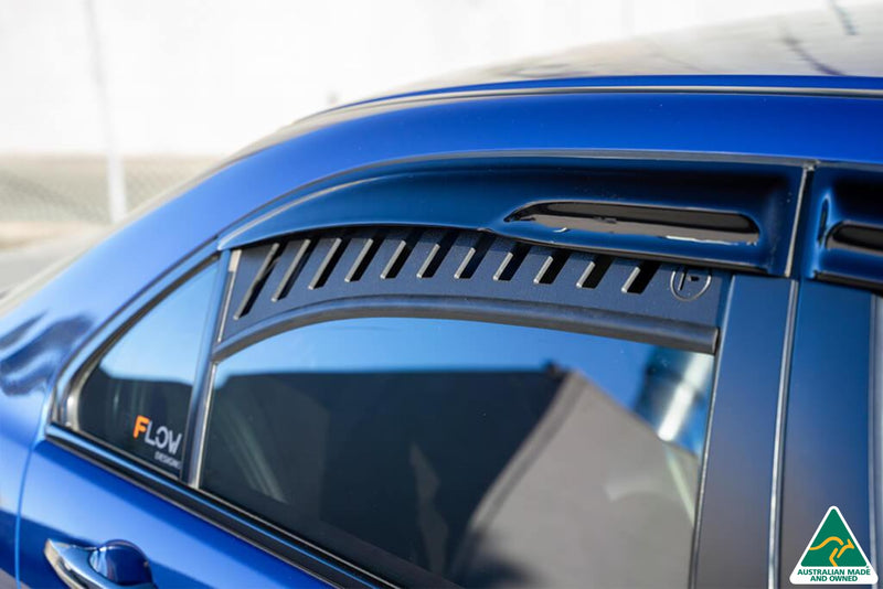Blue Honda Accord Euro CL Rear Window Vents