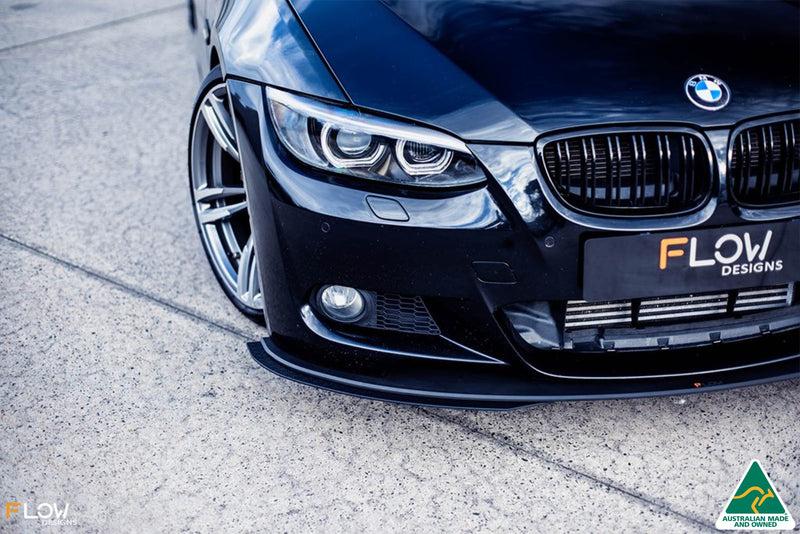 Black BMW E92 3 Series Front Splitter Extensions
