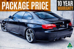 Black BMW E92 3 Series Splitter Set