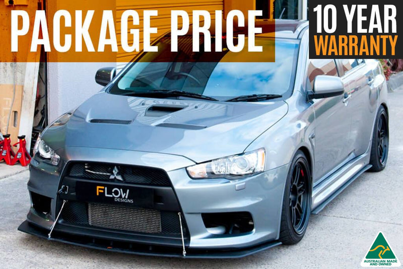 Lancer Evolution X Full Lip Splitter Set - Option 2