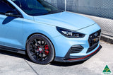 Blue Hyundai i30N Fastback Front Lip Splitter Extensions
