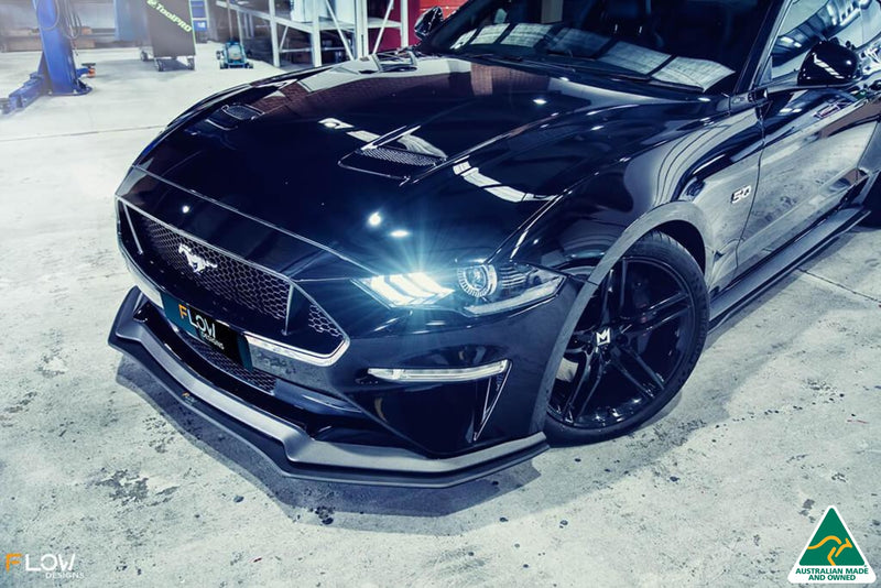 Black 2018 Mustang S550 FN Splitter Kit