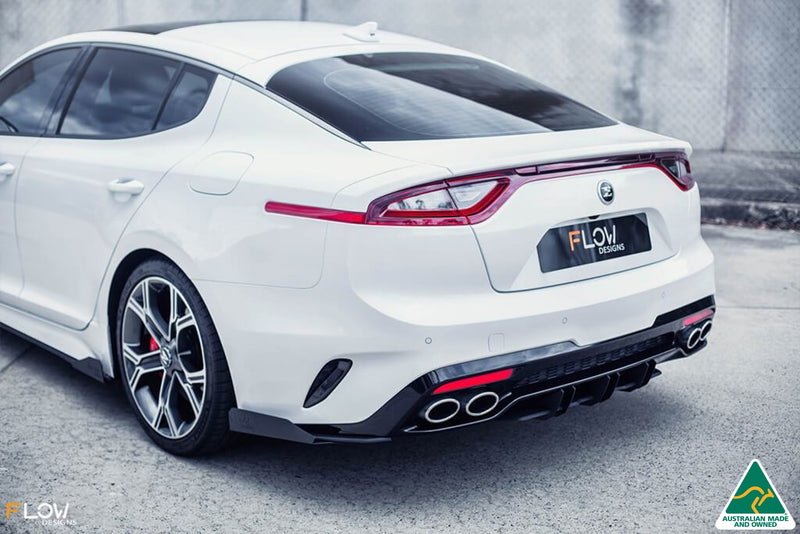 White Stinger CK GT Rear Spat Splitter Winglets