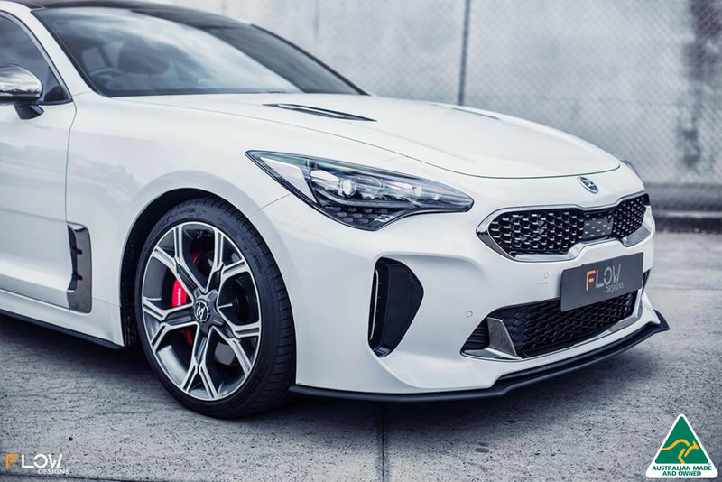 White Stinger CK GT Front Lip Splitter