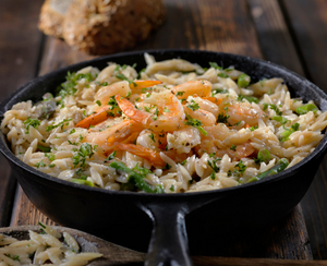 20 Minute Roasted Shrimp and Orzo