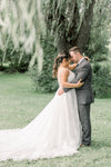 Bride and Groom Outdoor Wedding Tree