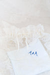 custom wedding garter handmade from bride's mother's veil by The Garter Girl