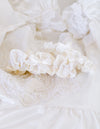 Garter Set: Made w Lace & Pearls From Bride's Mom's Wedding Dress by The Garter Girl