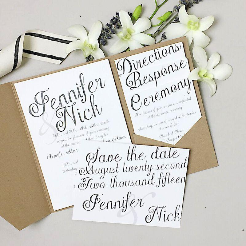 Endless Wedding Invitation Ideas With Basic Invite