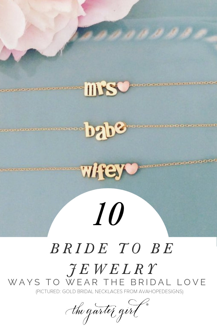 bride to be wedding engagement jewelry