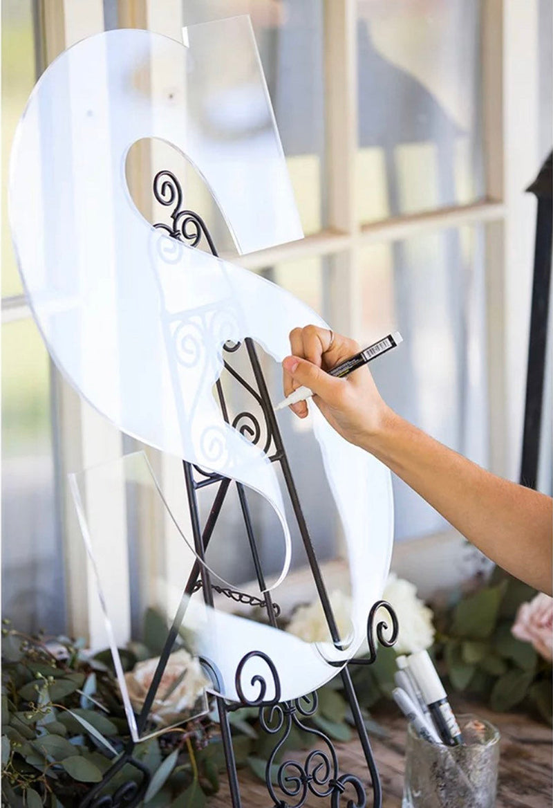 Acrylic Guest Book Sign Letter