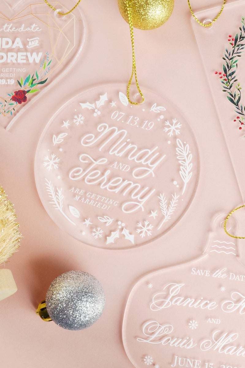 Acrylic Ornament Save the Date