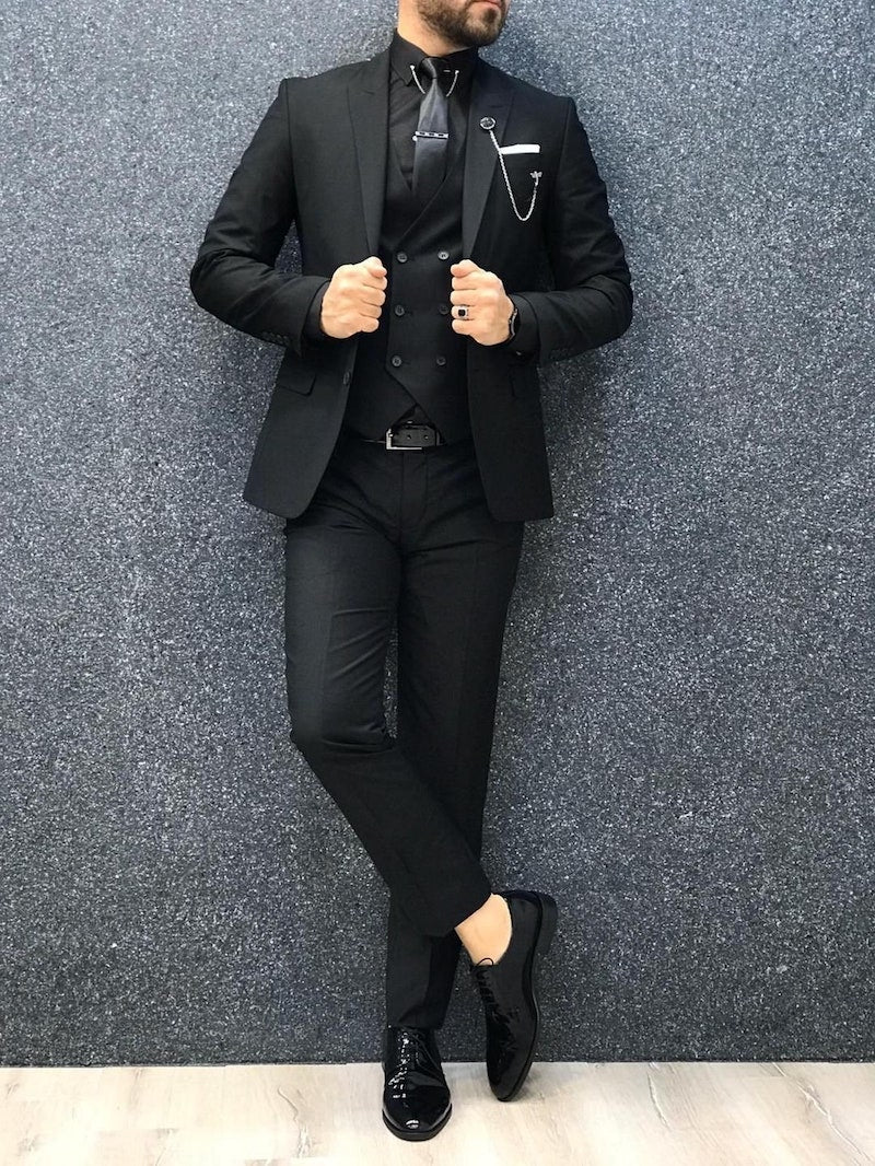 All Black Suit for Groom