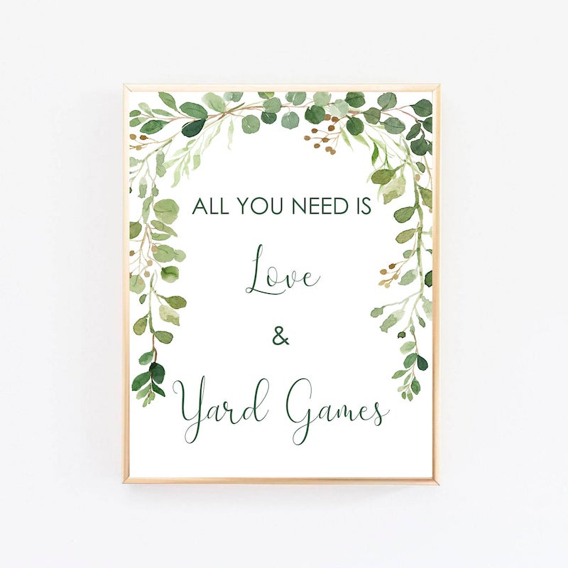 All You Need is Love and Yard Games
