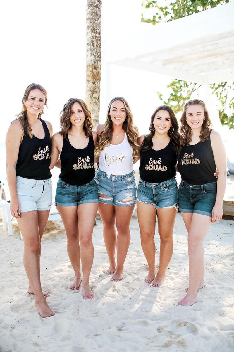 Bachelorette Party Tank Tops for Bridesmaids