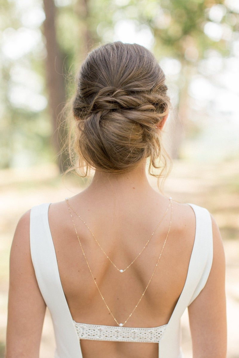 Back Necklace for Bride