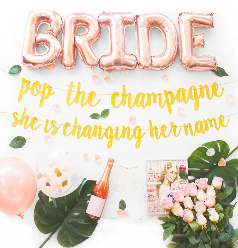 balloon and sign bridal shower decoration kit