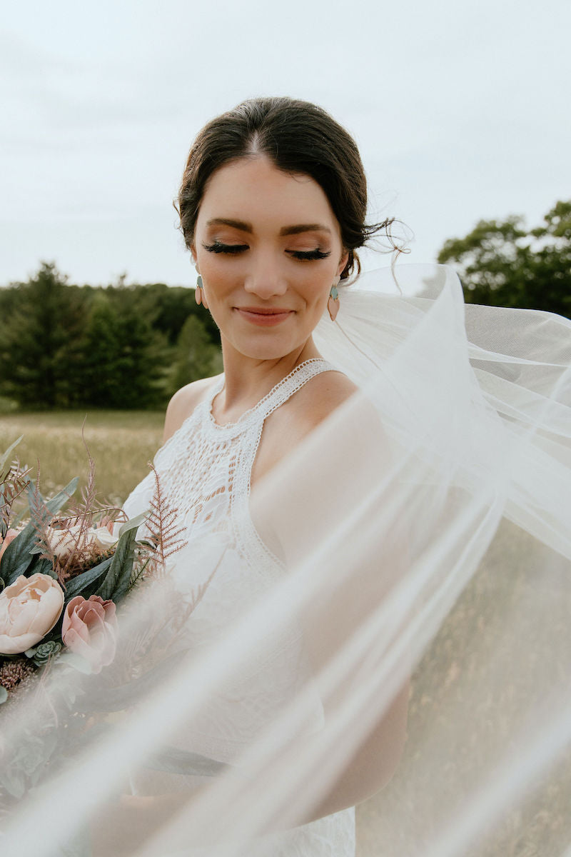 Beautiful Bride with Tulle Veil