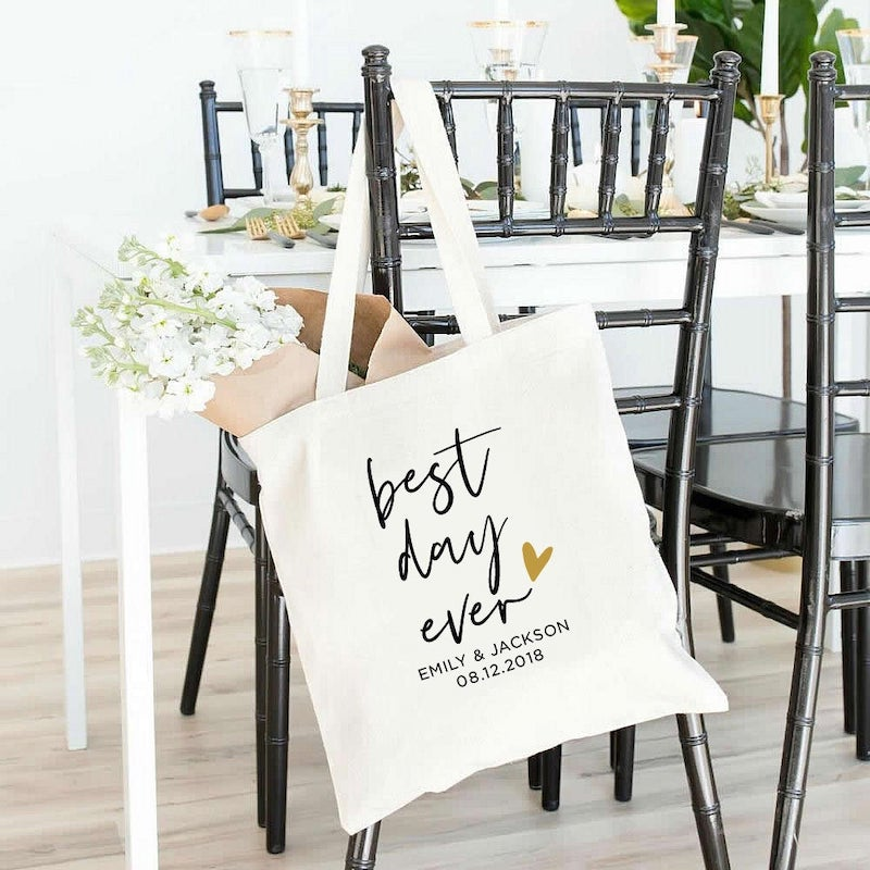 Best Day Ever Personalized Tote Bag