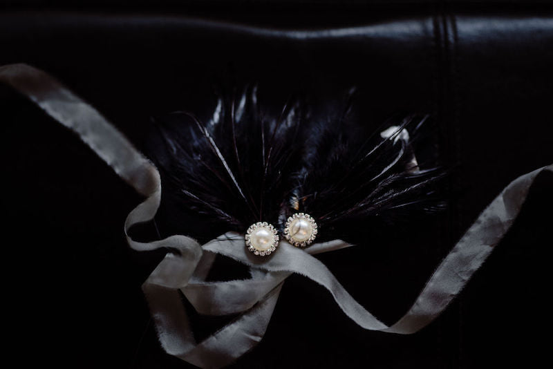 Black Feather Earrings for Ballet Inspired Wedding