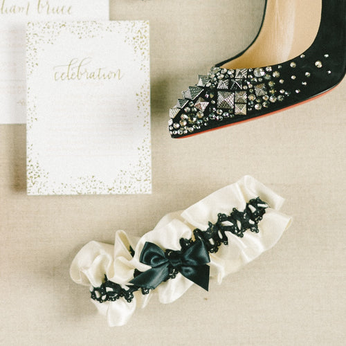 black lace wedding garter by The Garter Girl