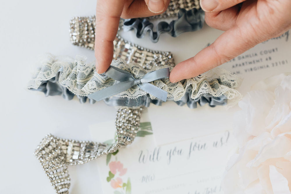 Just Say Yes Wedding garter collection handmade bridal accessories by The Garter Girl