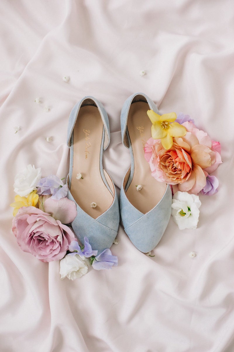 Blue Wedding Shoes for Bride