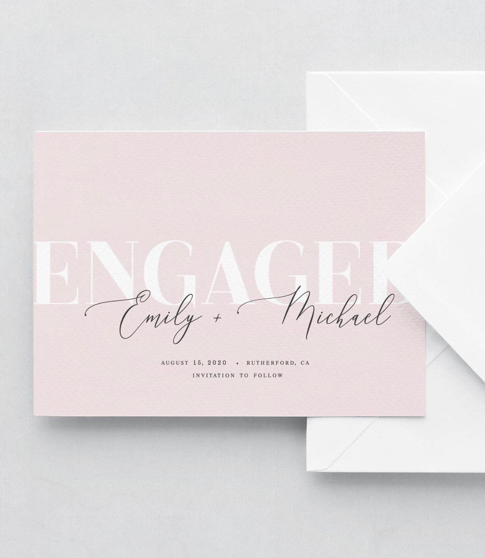 Blush Pink Save the Date