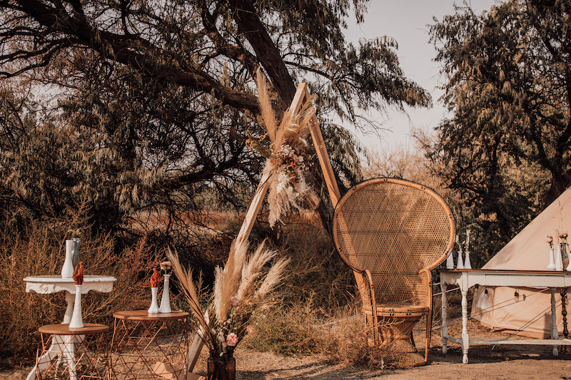 Boho Bell Tent and Wedding Arch