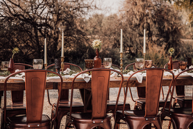 Boho Wedding Copper Chairs