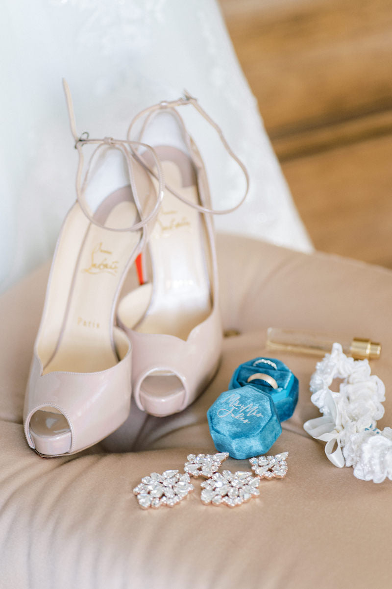 Bridal Accessories, Ring Box, Earrings and Wedding Garter