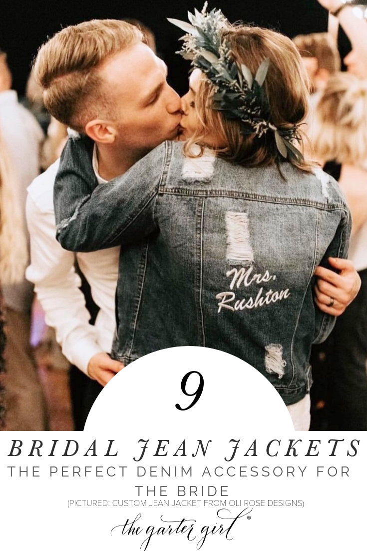 bridal denim wedding jean jackets